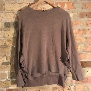 Zara ruffle sweater